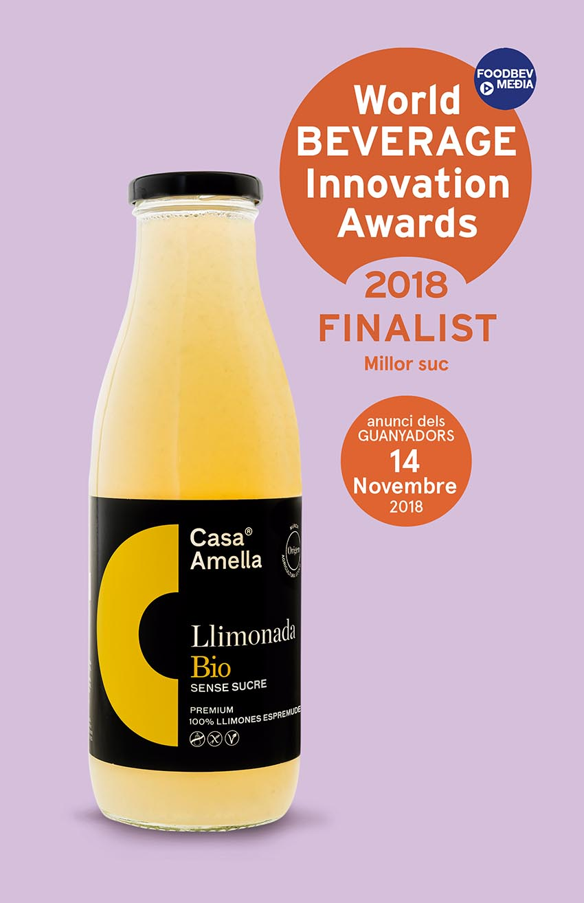 La llimonada Bio sense sucre, finalista al World Beverage Innovation Awards